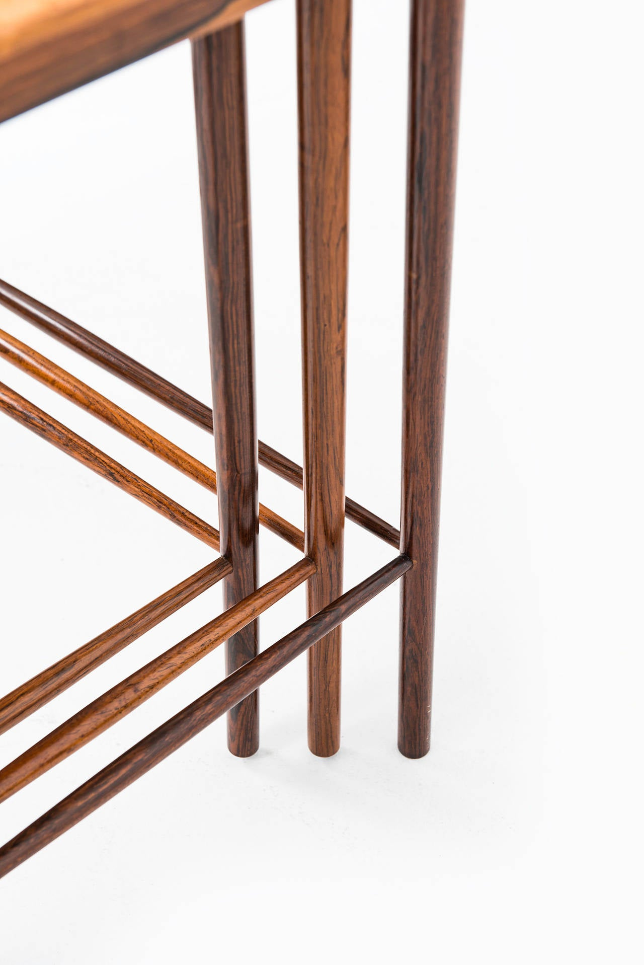 Marvelous Scandinavian Modern Grete Jalk Nesting Tables In Rosewood By P. Jeppesen In  Denmark For Sale Good Looking