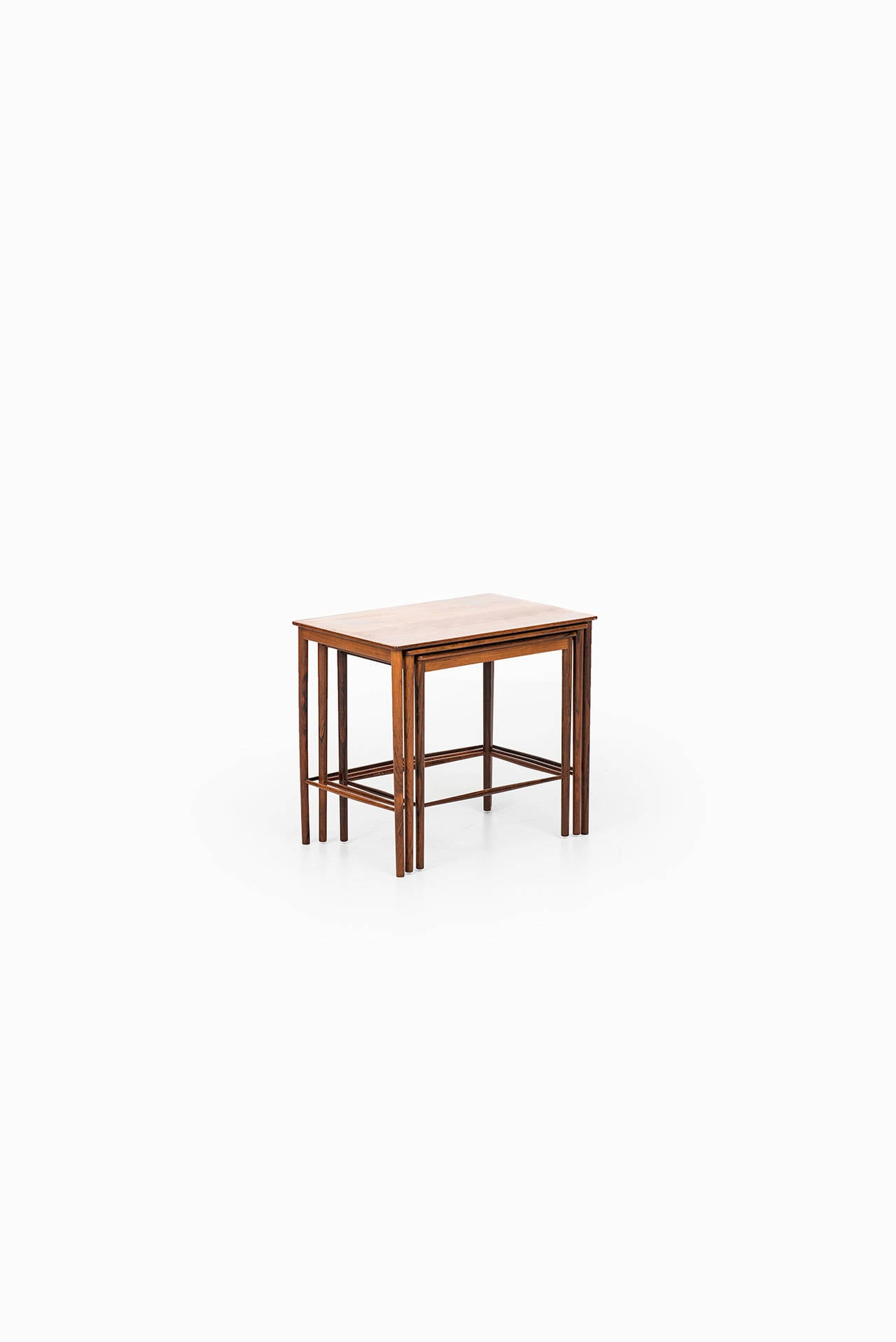 Grete jalk nesting tables in rosewood by p jeppesen in for P jeppesen furniture