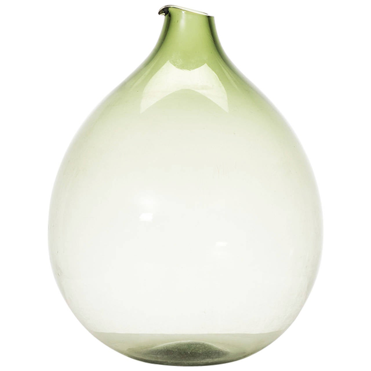 Kjell Blomberg Glass Vase by Gullaskruf in Sweden