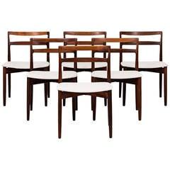 Harry Østergaard set of 6 dining chairs by Randers møbelfabrik in Denmark