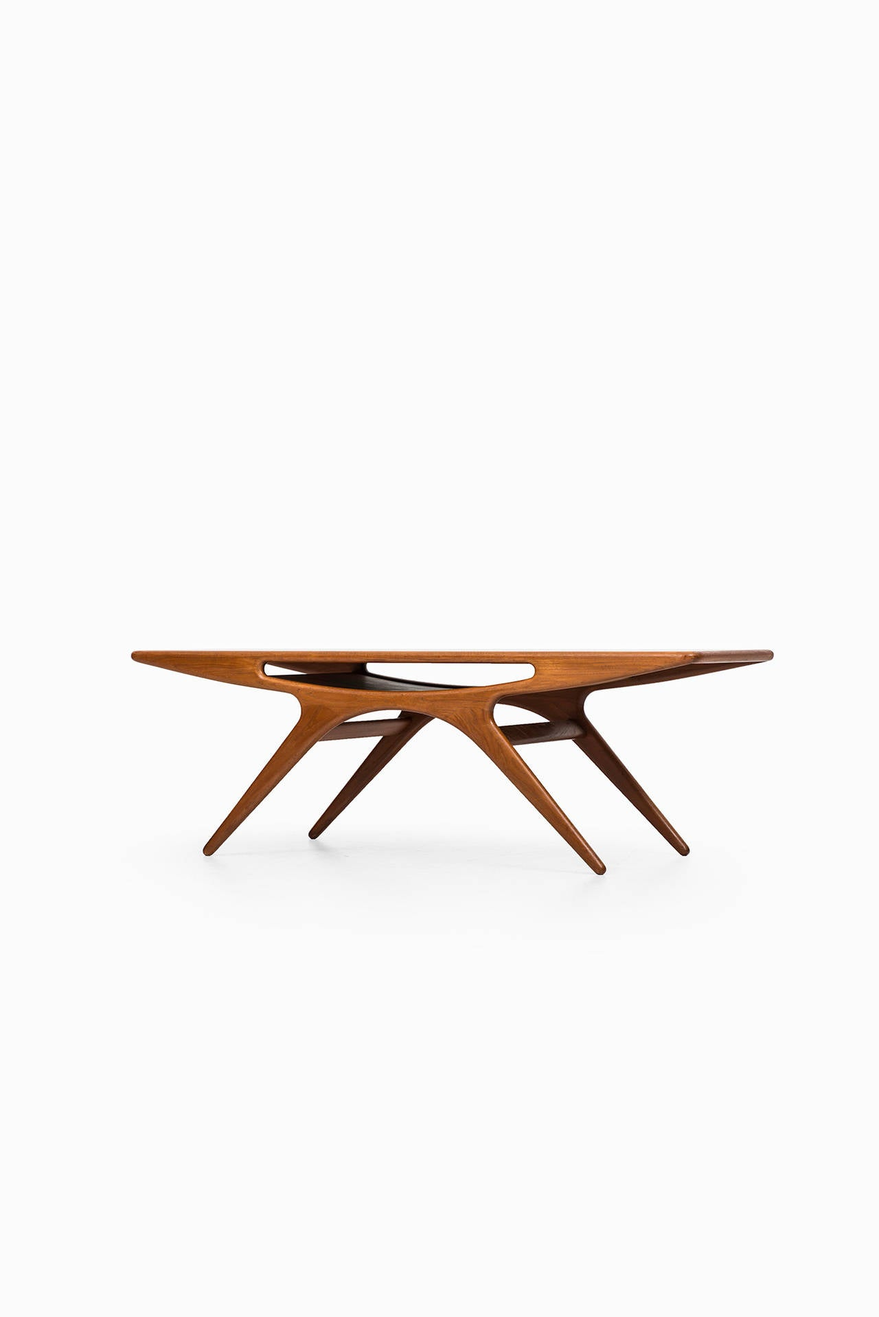 Johannes Andersen Smiling Coffee Table In Teak By CFC Silkeborg In Denmark 2