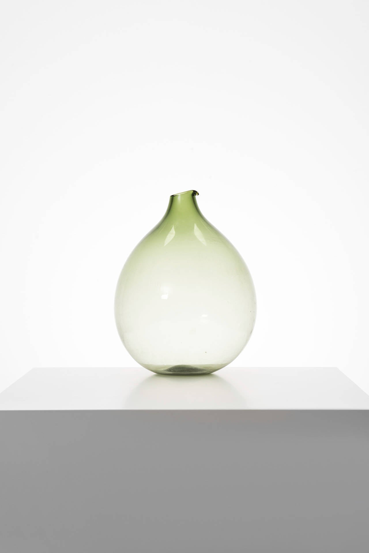 Swedish Kjell Blomberg Glass Vase by Gullaskruf in Sweden