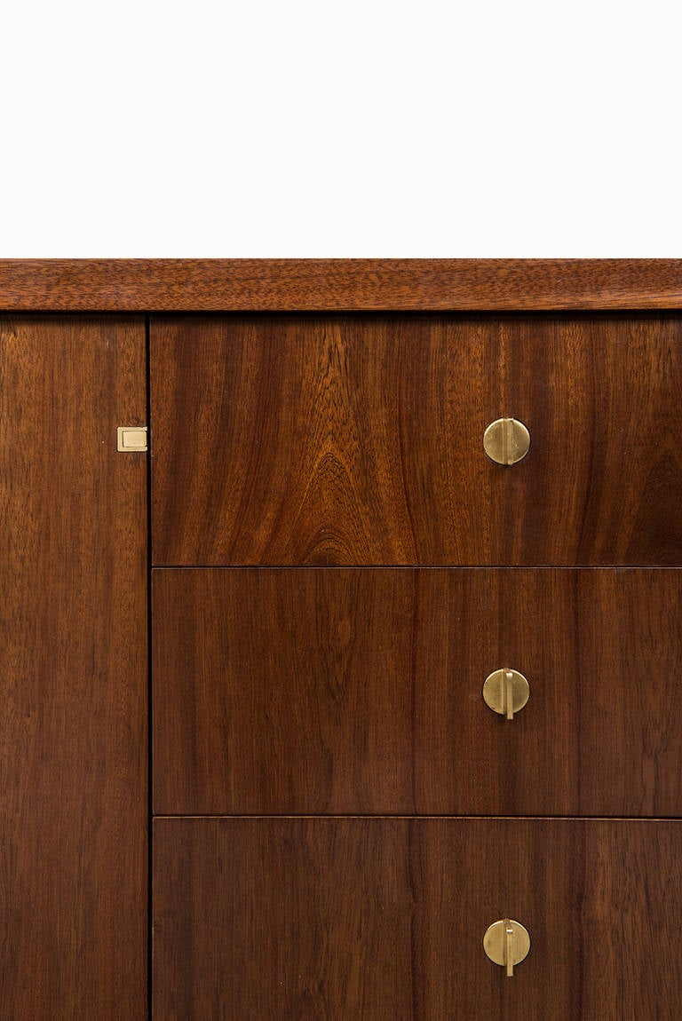 dark cabinets mahogany sideboard with brass details for at 1stdibs 14428
