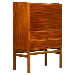 Axel Larsson cabinet / secretaire in mahogany by Bodafors in Sweden