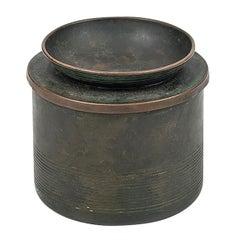 Nils Fougstedt tobacco jar in bronze by FAK in Sweden