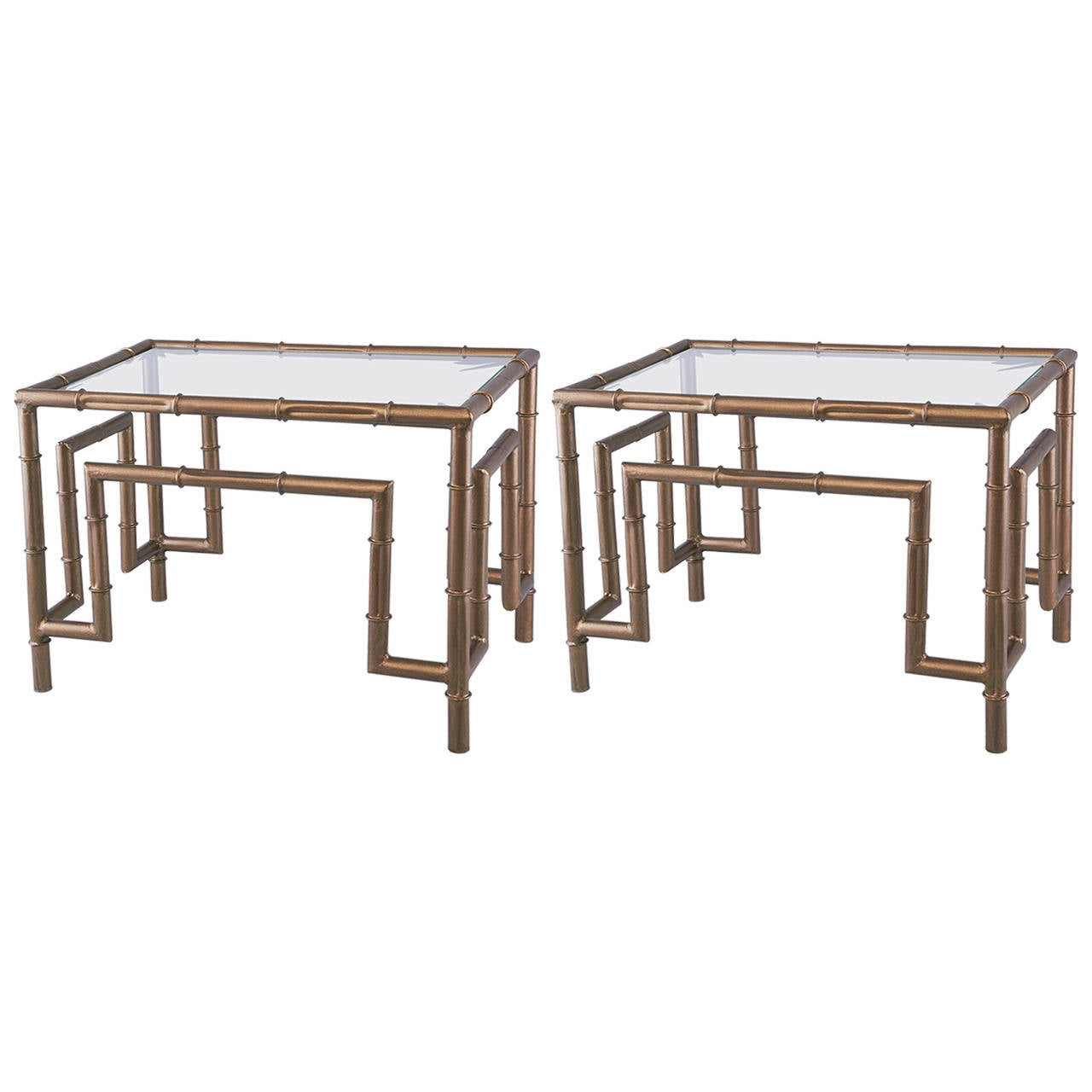 Pair Of Industrial Style Steel Side Tables At 1stdibs