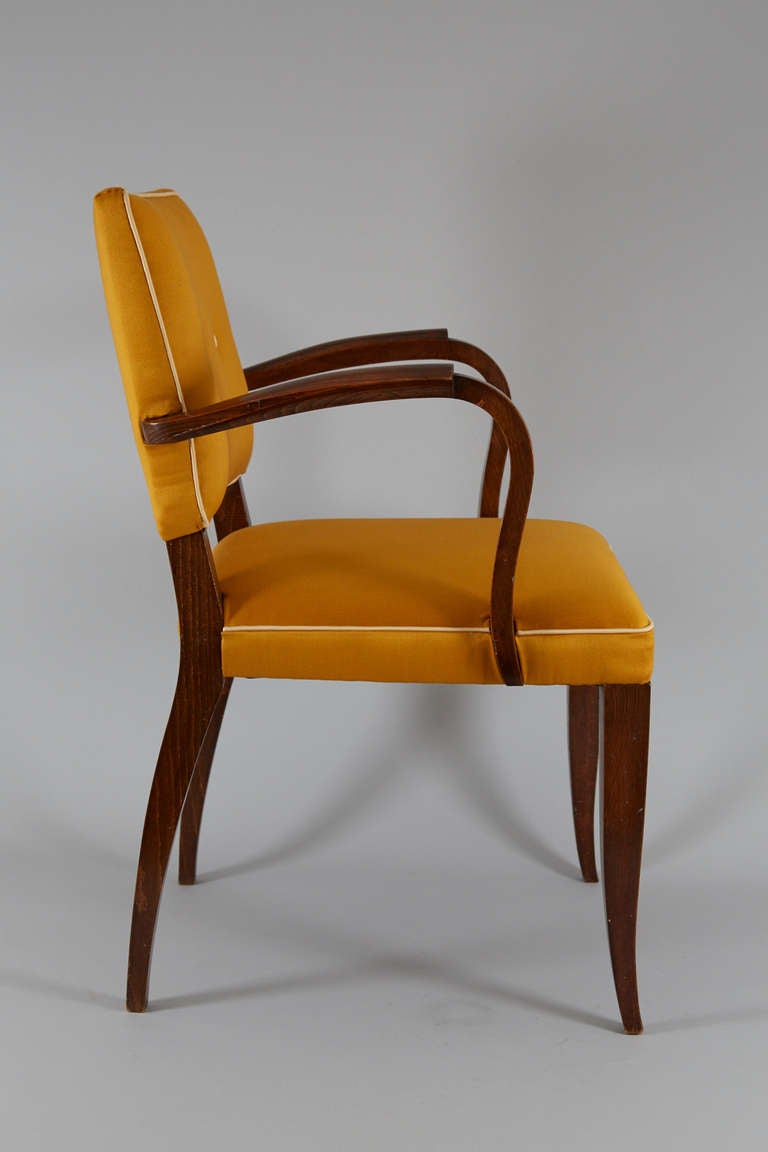 Pair of French Art Deco Armchairs For Sale at 1stdibs