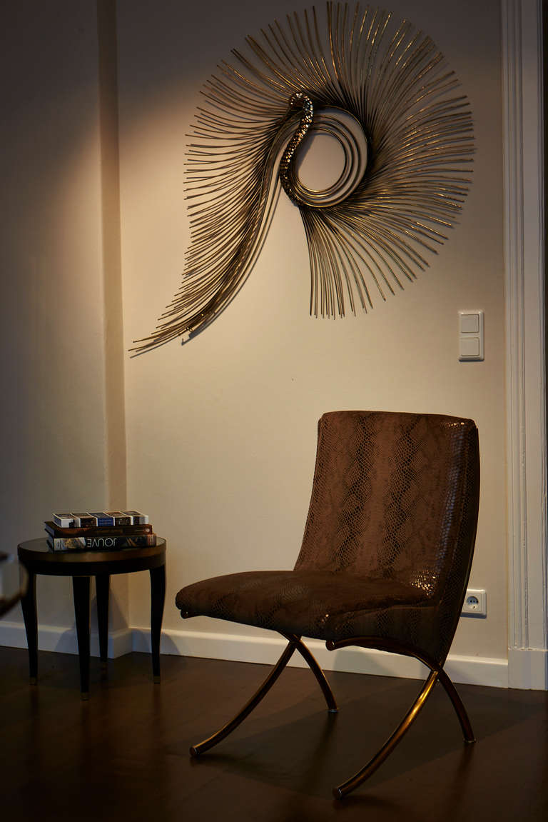 Curtis Jere Wall Sculpture Peacock At 1stdibs
