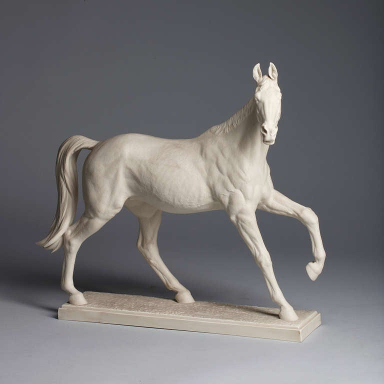 Figurine of the Famous Mare Halla Biscuit Porcelain For ...
