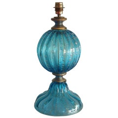 Italian Table Lamp in Blown Murano Glass,Attributed to Seguso, 1960s