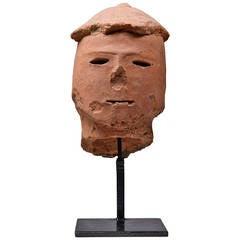 Ancient Japanese Kofun Period Haniwa Terracotta Head
