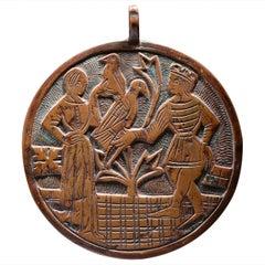 Medieval Bronze Heraldic Horse Pendant or Livery Badge, 1380