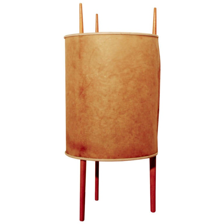 cylinder lamp by isamu noguchi for knoll international at. Black Bedroom Furniture Sets. Home Design Ideas