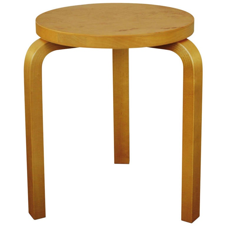Stool 60 By Alvar Aalto Markanto Edition 2013 At 1stdibs