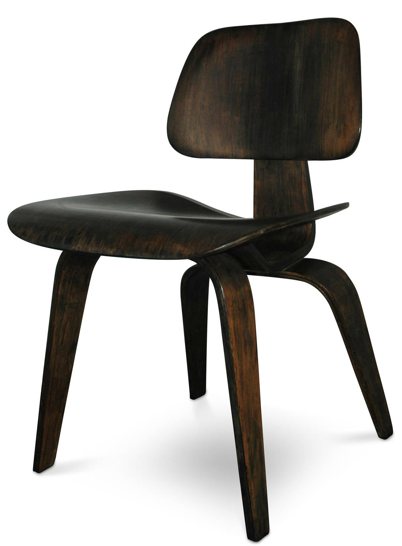 dcw dining chair wood by charles and ray eames for evans at 1stdibs. Black Bedroom Furniture Sets. Home Design Ideas