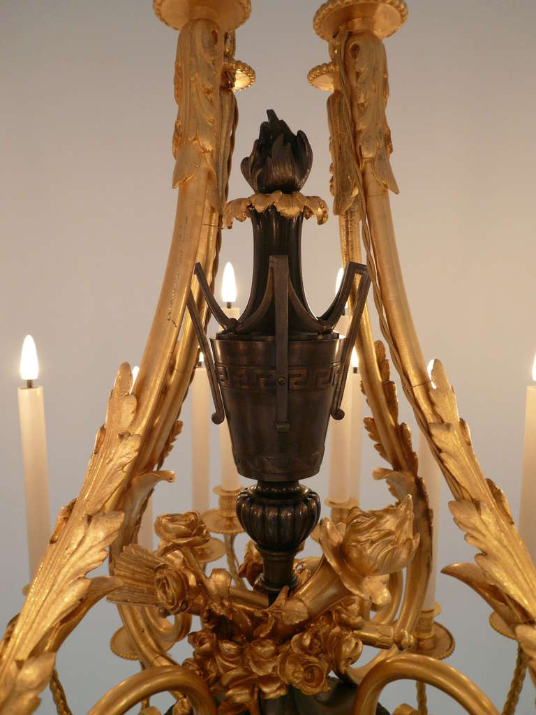 French Important Napoleon III Chandelier For Sale
