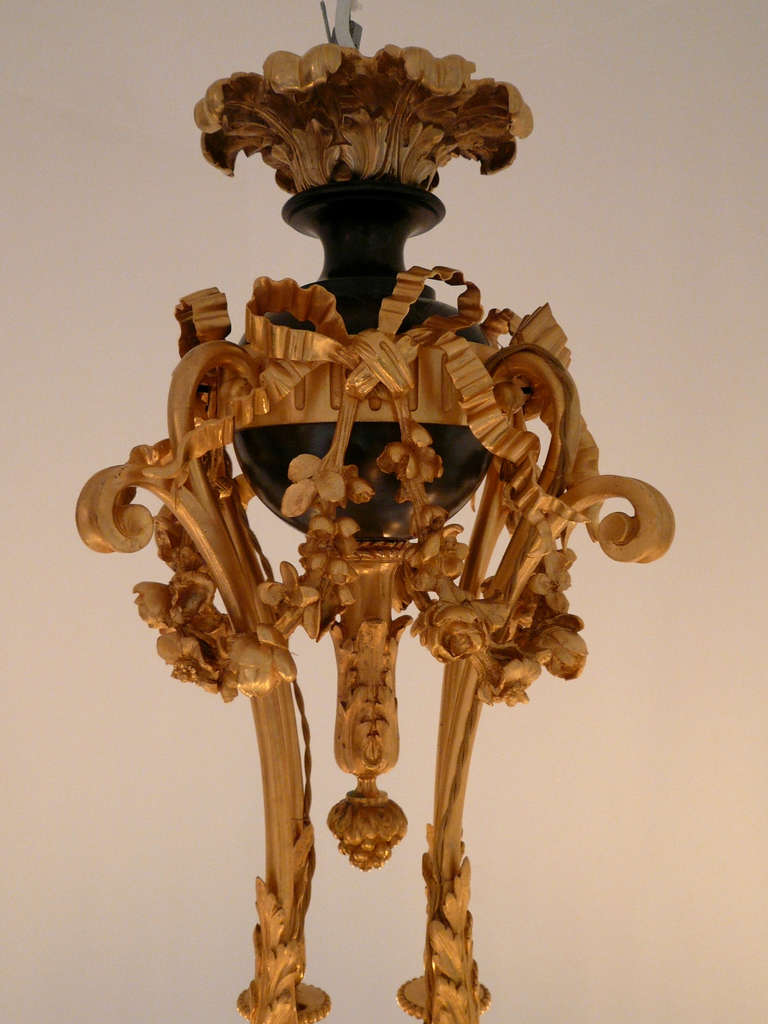 Patinated Important Napoleon III Chandelier For Sale