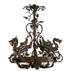 Chandelier Decorated with Dragons