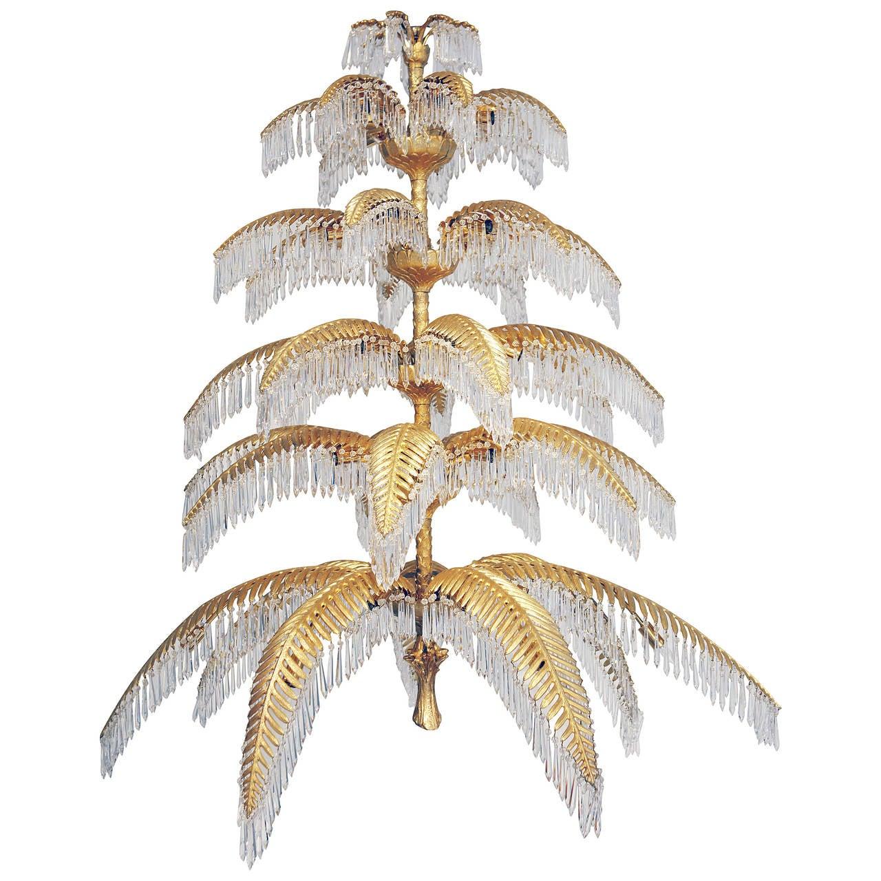 Palm tree chandelier from hoffmann bakalowitz vintage 1960s for palm tree chandelier from hoffmann bakalowitz vintage 1960s for sale aloadofball Images