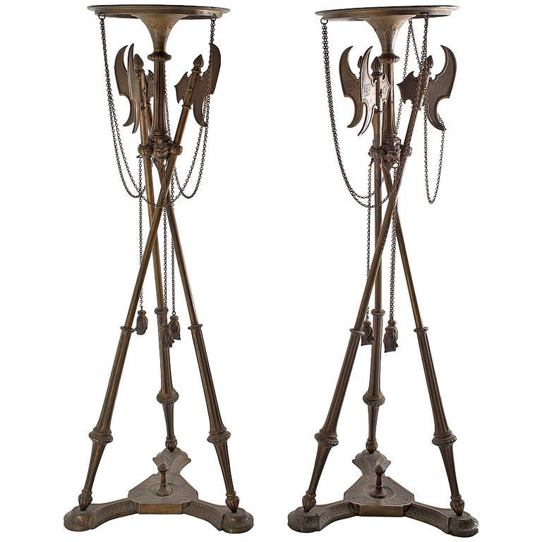 Pair of Cast Iron Stands