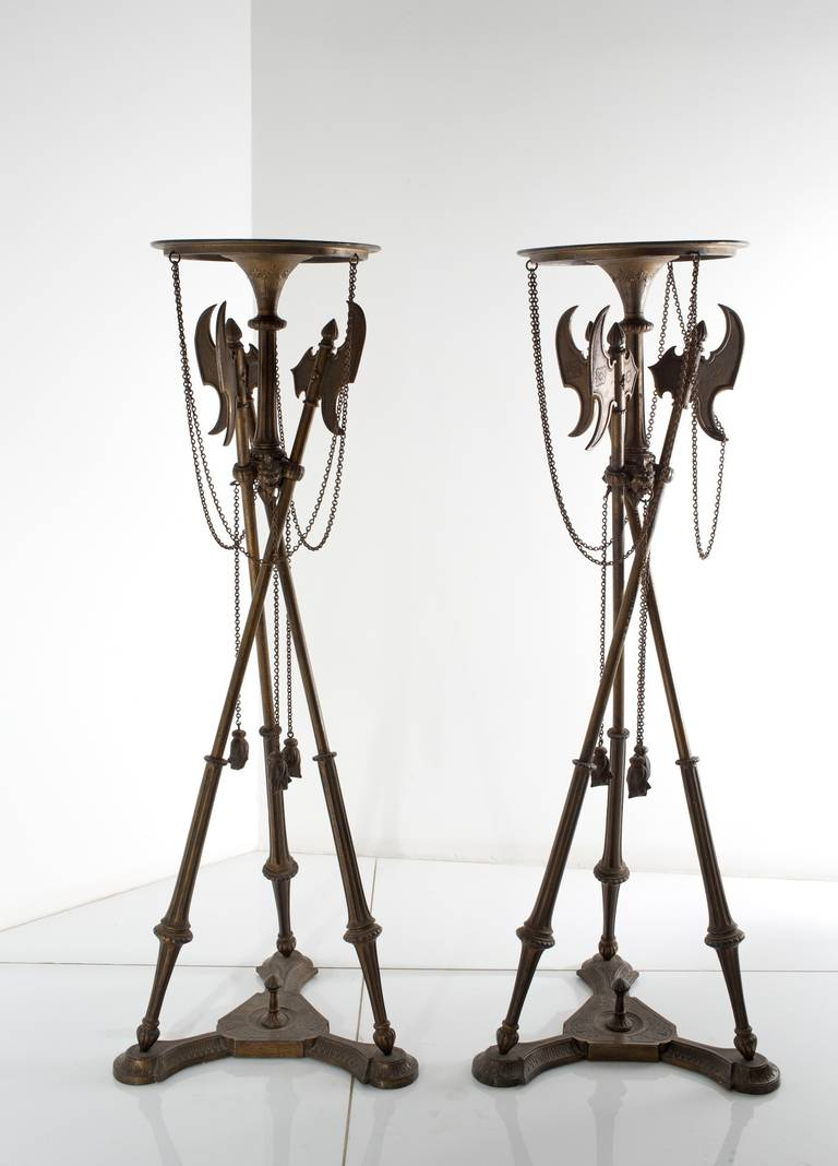 Pair of Stands in cast iron