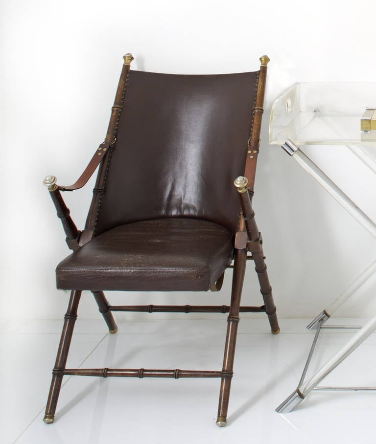 Four Folding Chairs By Maison Jansen Circa 1960 For Sale At 1stdibs