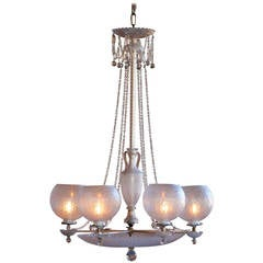Neo-Classical Chandelier by Osler