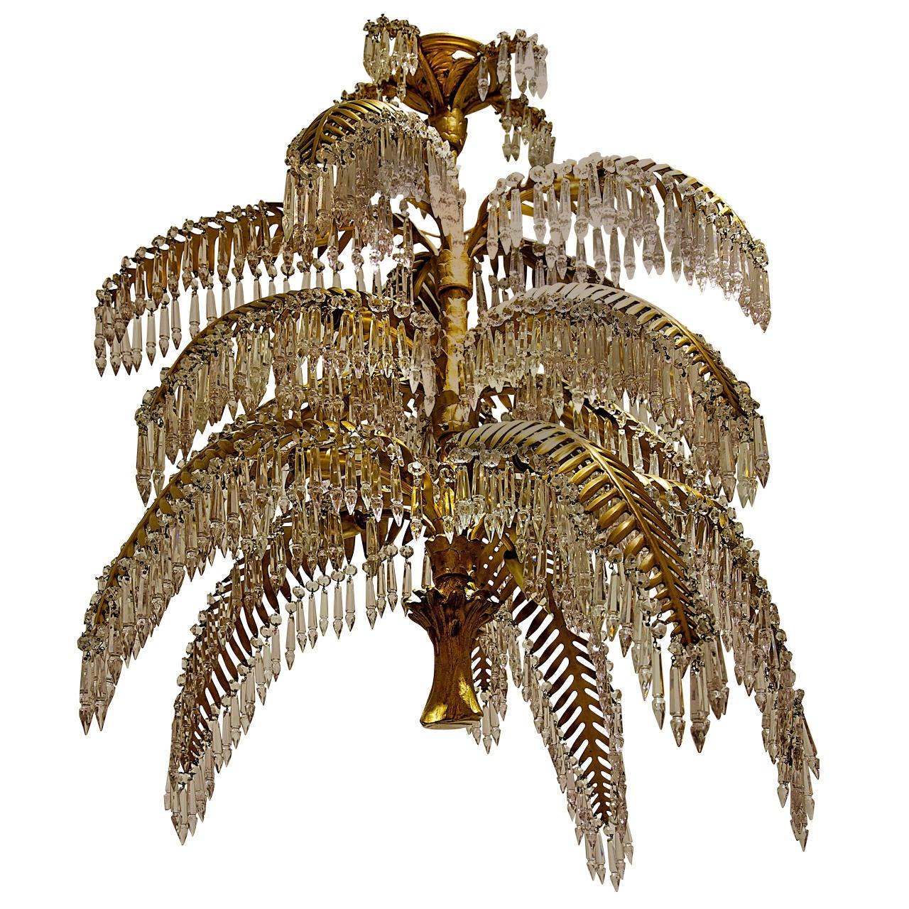 Joseph Hoffmann and Bakalowitz Palm Tree Chandelier