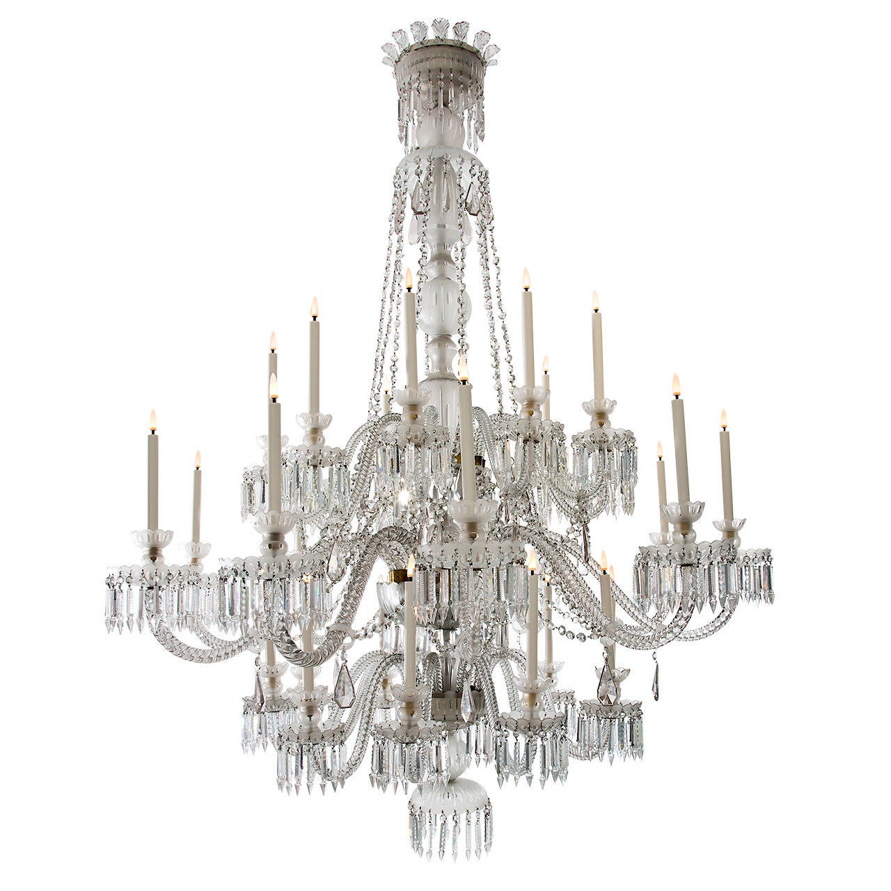 Impressive Crystal Chandelier By Baccarat For Sale At 1stdibs