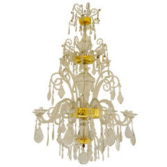 Important Chandelier by the Royal Crystal Manufacture of La Granja