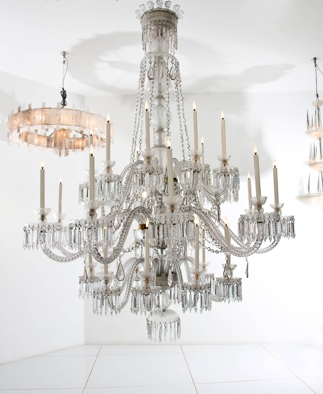 Impressive crystal chandelier by baccarat for sale at 1stdibs large chandelier with three levels of lights arubaitofo Gallery