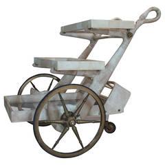 Aldo Tura Parchment Bar Cart