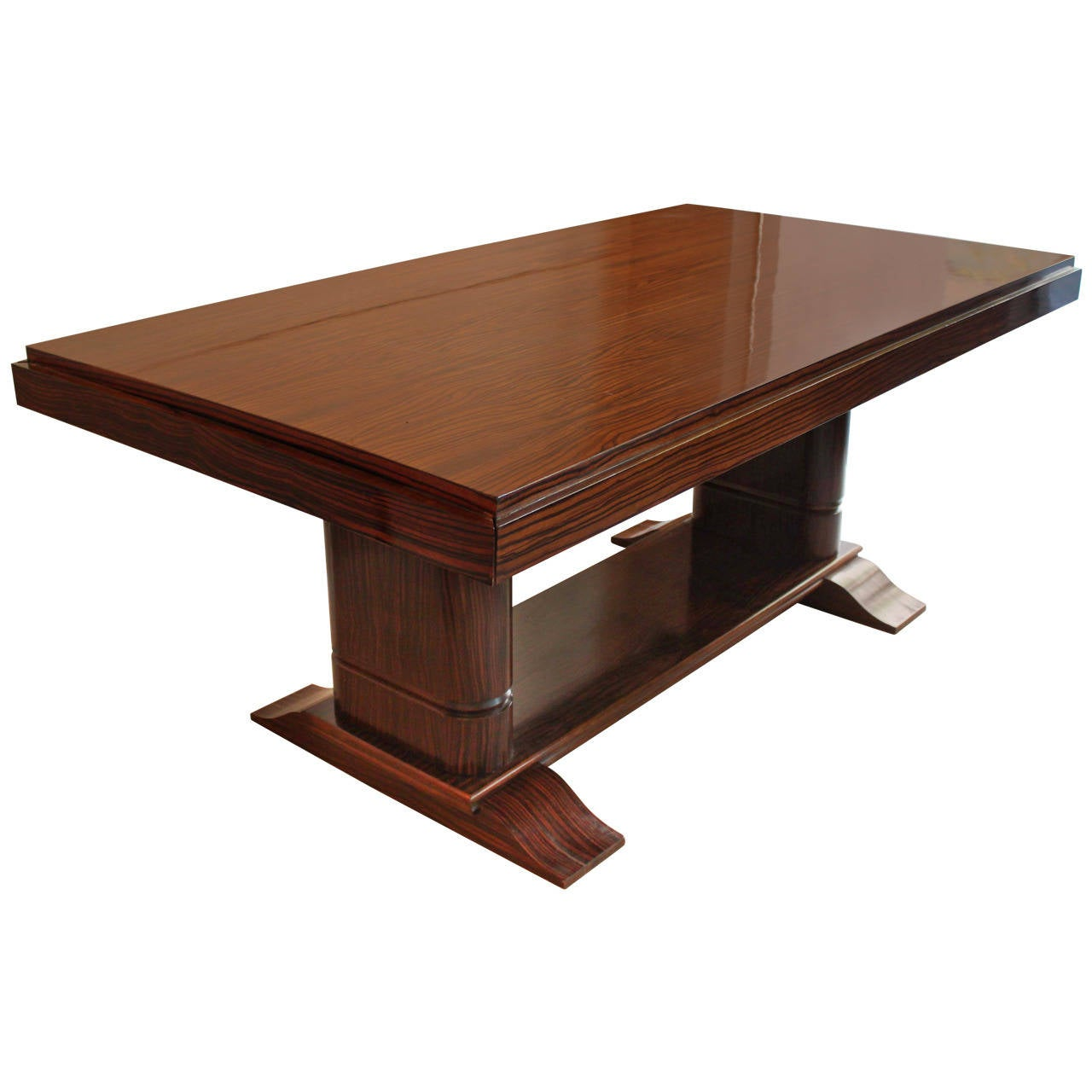 Rosewood Art Deco Dining Table At 1stdibs