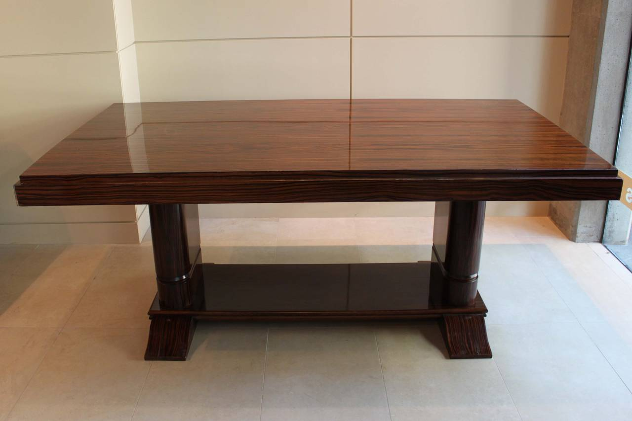Rosewood art deco dining table at 1stdibs - Art deco dining room table ...