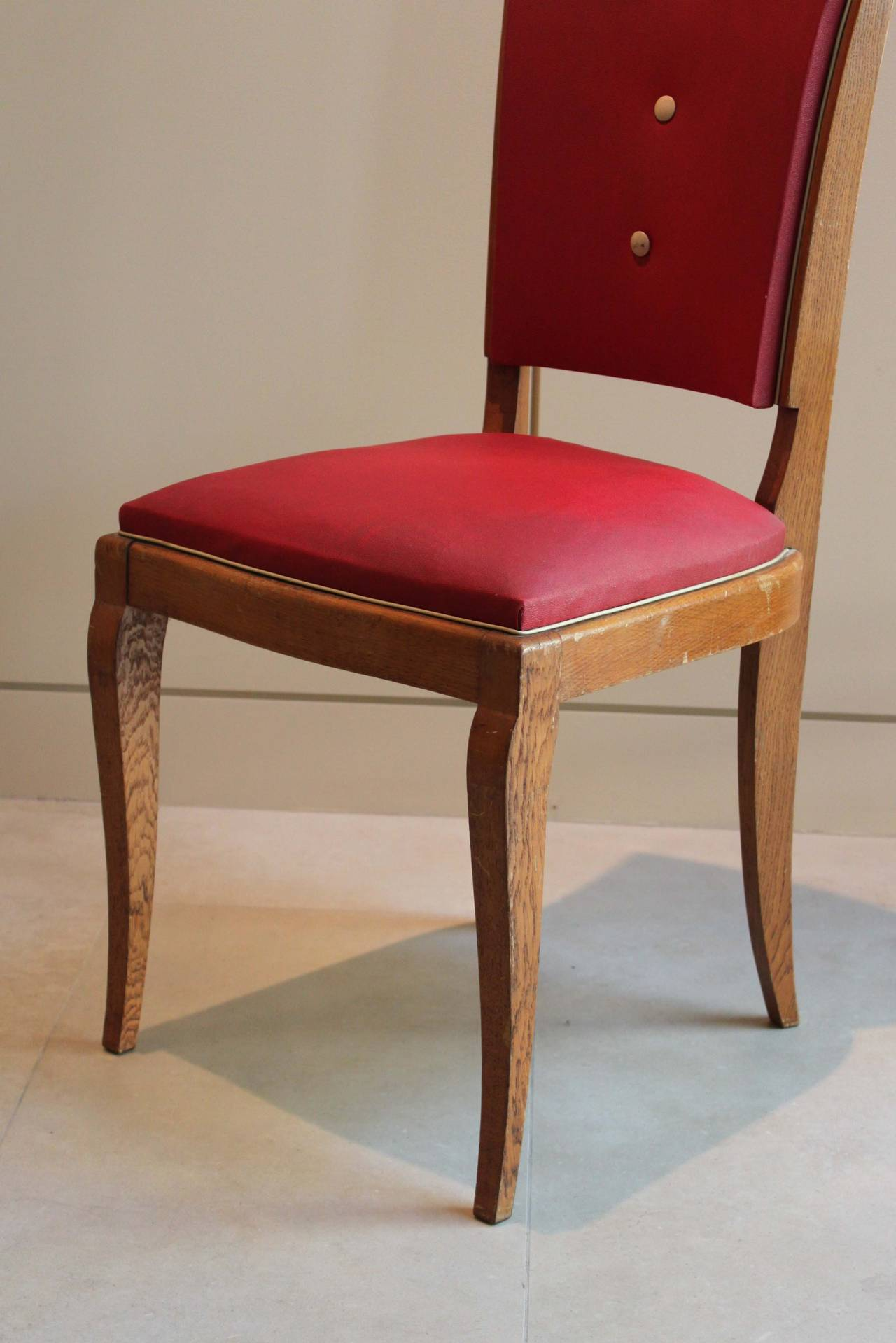 Mid-20th Century Set of Six Dining Chairs For Sale