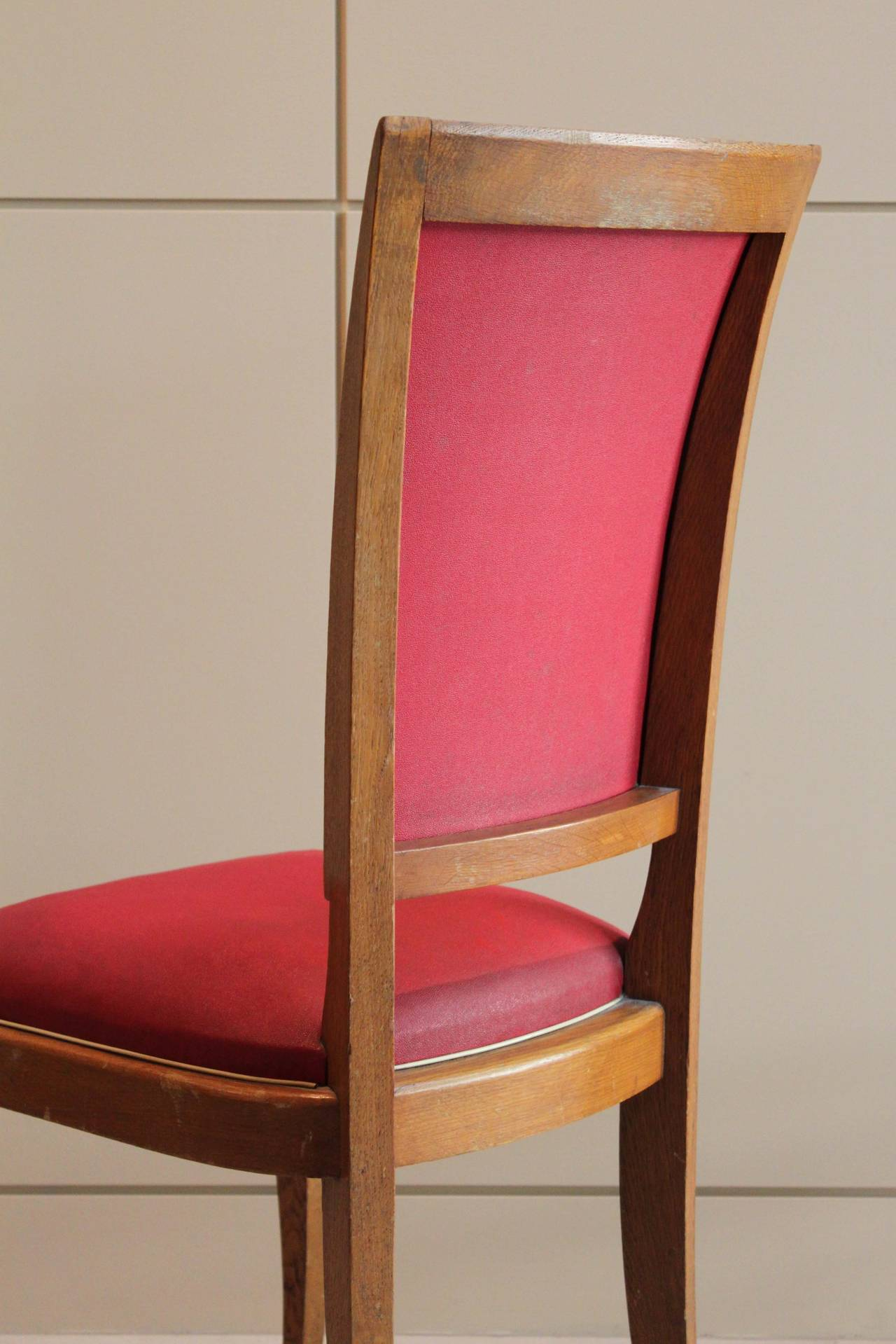French Set of Six Dining Chairs For Sale