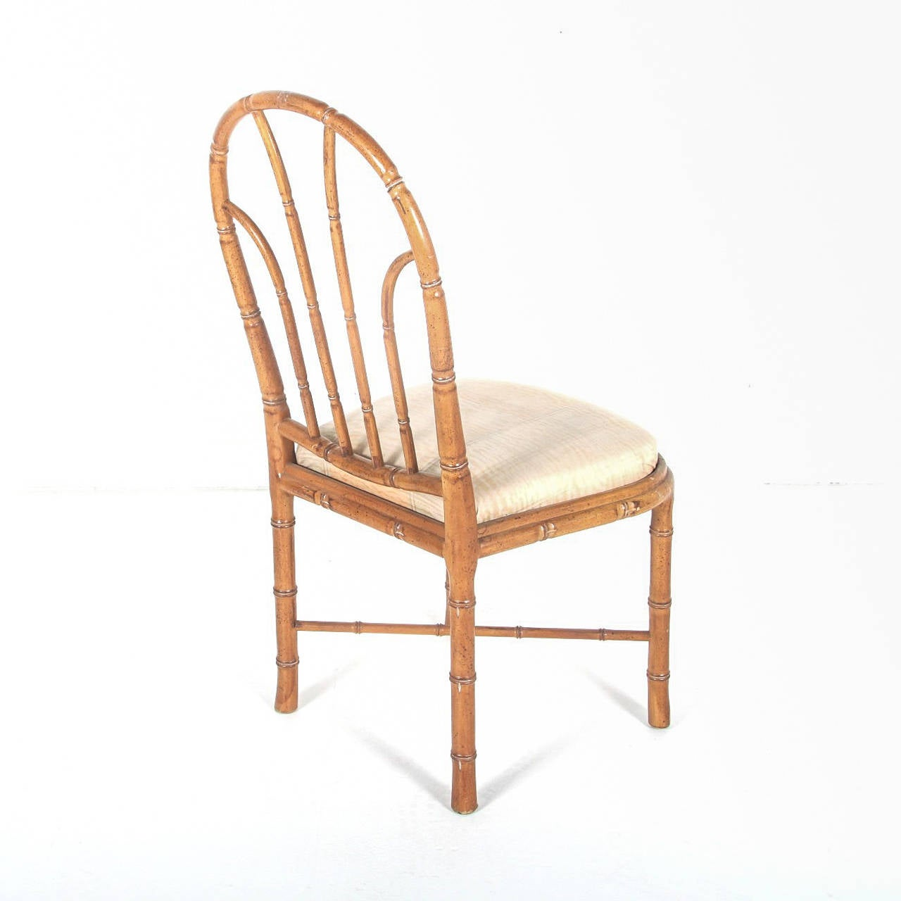bamboo style dining chairs set of six at 1stdibs
