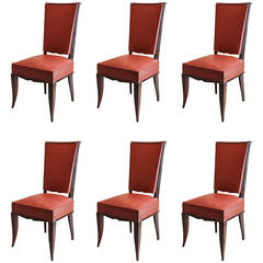 Art Deco Dining Chairs, Set of Six