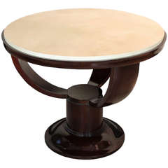 Art Deco Table with Lambskin Top