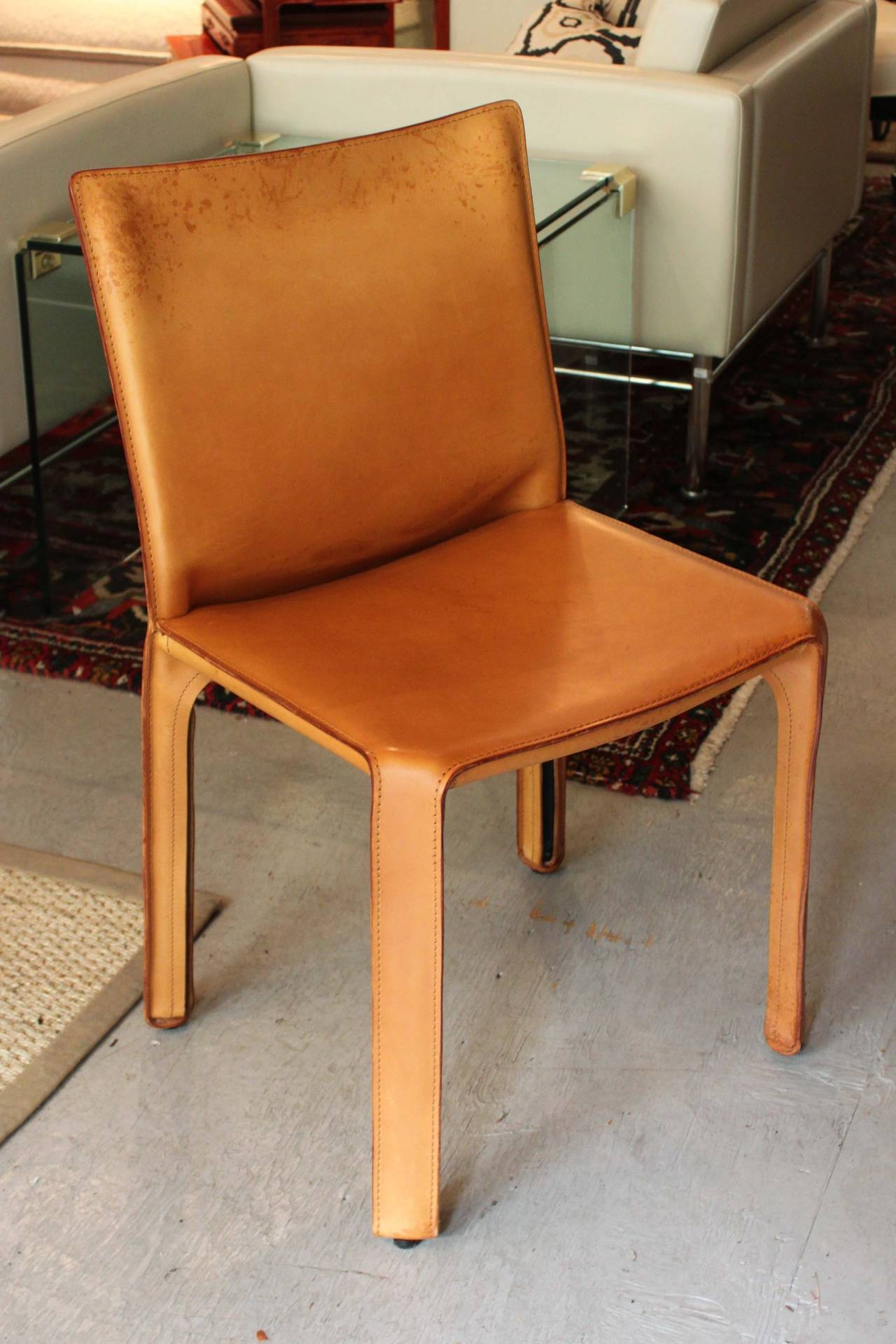 Cab Chairs By Mario Bellini For Cassina Set Of Eight At 1stdibs