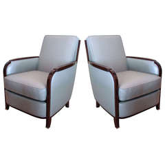 Pair of SS Île de France Armchairs