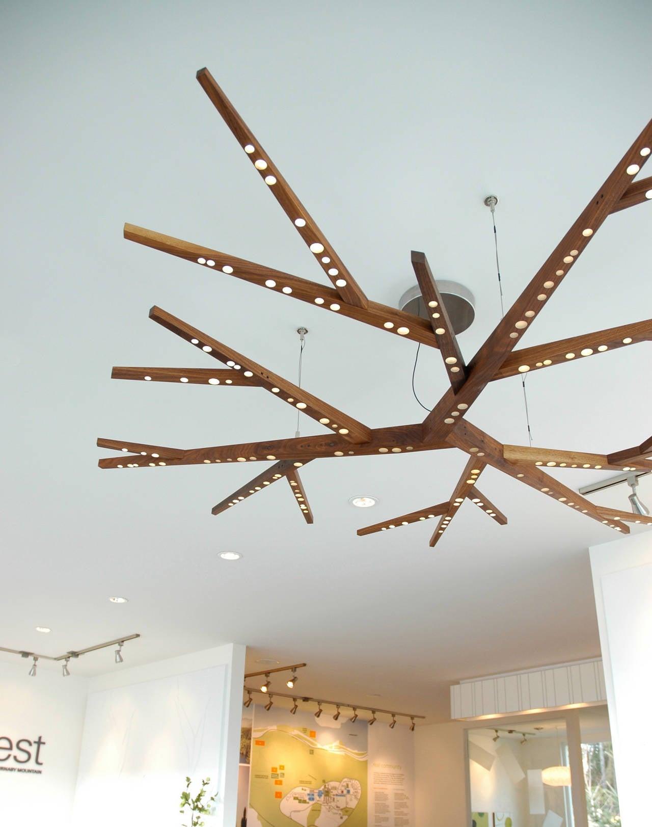Modern Myco 72 Ceiling Light Sculpture For Sale
