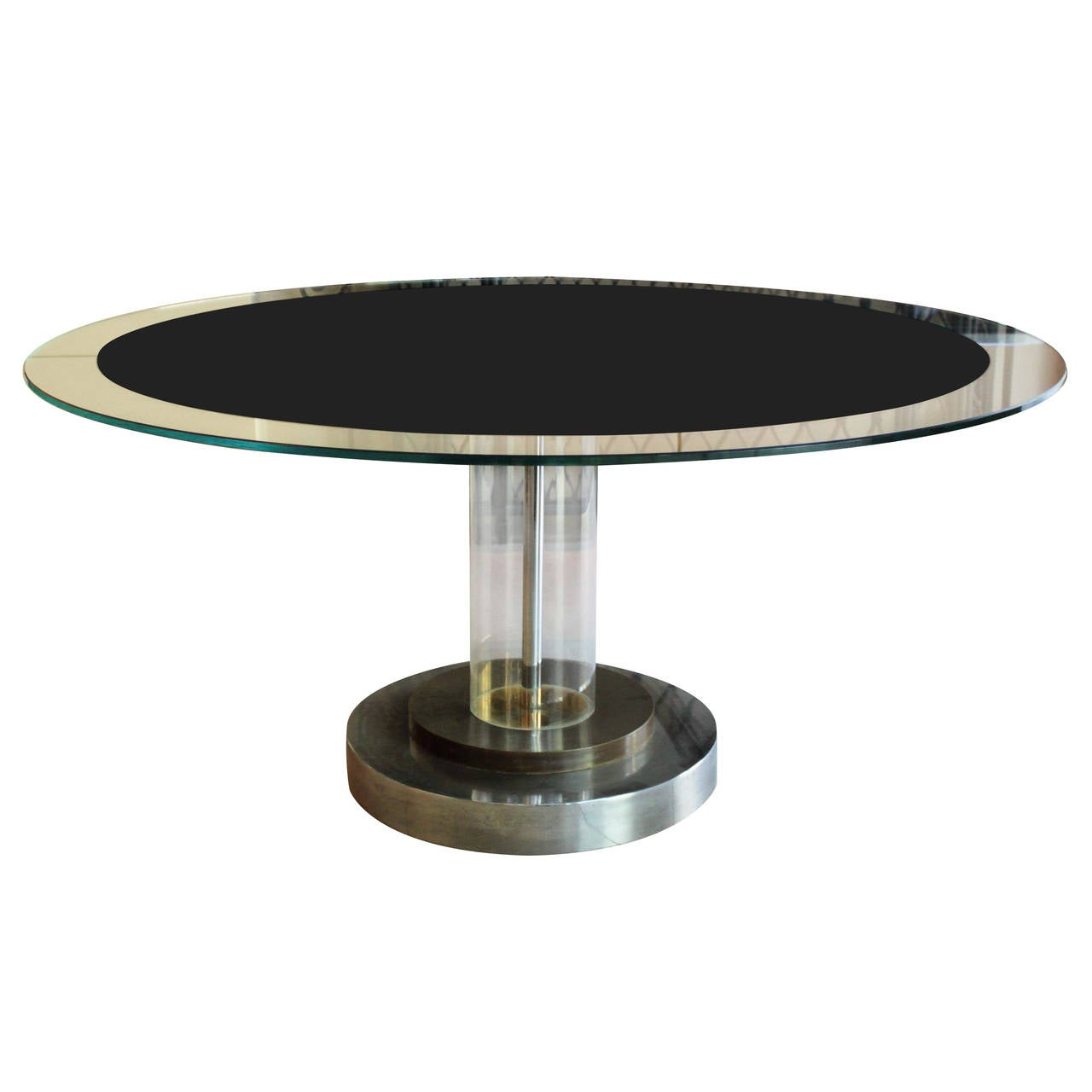 Lucite Pedestal Table Attributed to Romeo Rega at 1stdibs