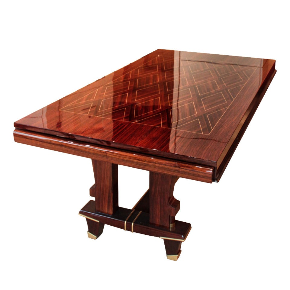 Inlaid French Art Deco Table At 1stdibs