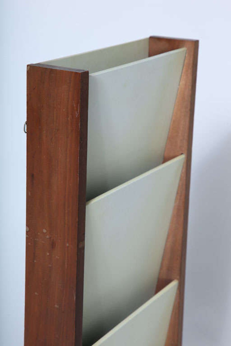 Wall Mount Magazine Holder by Peter Pepper Products In Good Condition For Sale In New York, NY