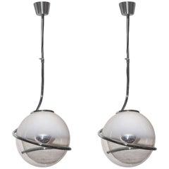 Pair of Fabio Lenci Pendant Lights, Italian, 1970s