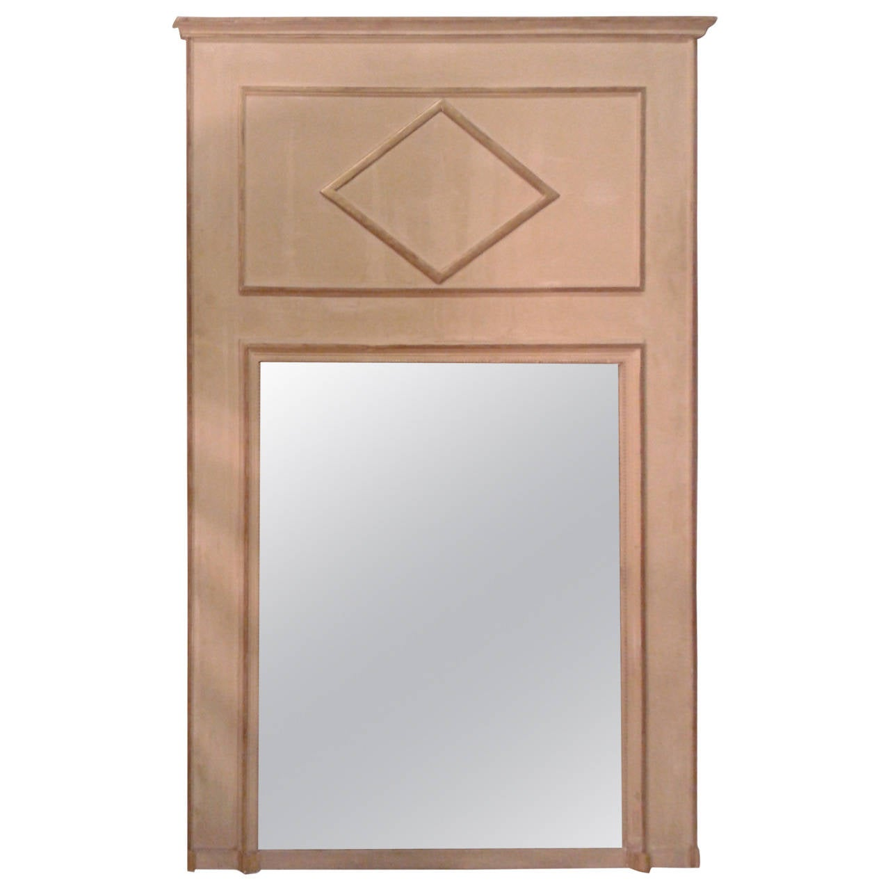Painted Directoire Style French Trumeau Mirror