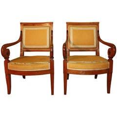 Magnificent Pair of Biedermeier Armchairs