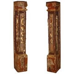 18th Century Pair of Italian Pedestals