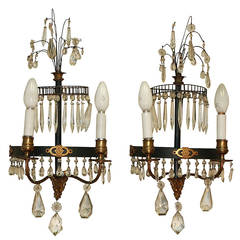 Pair of French Directoire Sconces